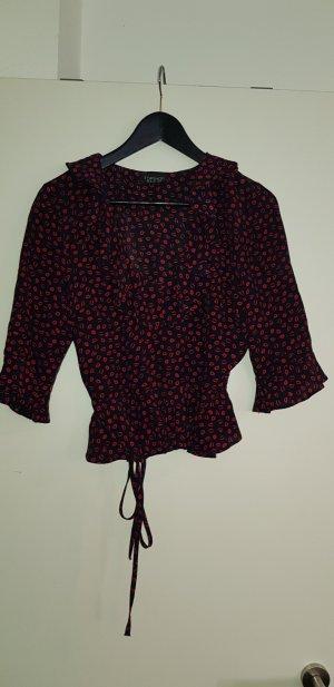 Topshop Blusa negro-carmín