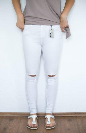 Topshop Leigh Jeans Ripped Used weiß NEU