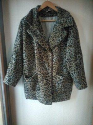 Topshop Leo-Mantel, animalprint, leopardenmuster, 38