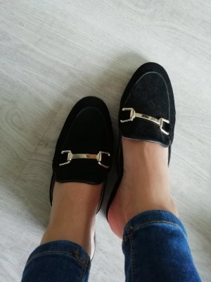 Topshop Mules black-gold-colored