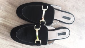 Topshop Slippers silver-colored-gold-colored