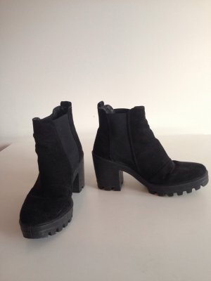 Topshop Slip-on Booties black others