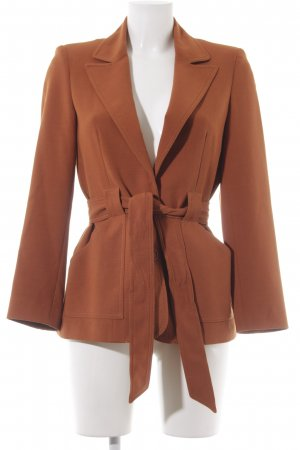 Topshop Long-Blazer dunkelorange Business-Look