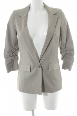 Topshop Blazer largo gris-albaricoque estilo «business»