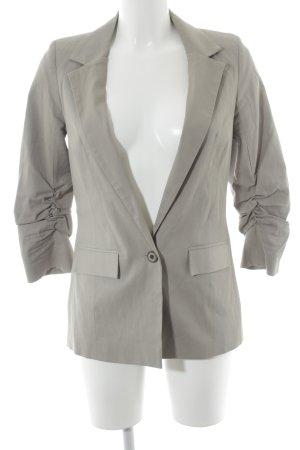 Topshop Blazer largo gris-albaricoque estilo «business»