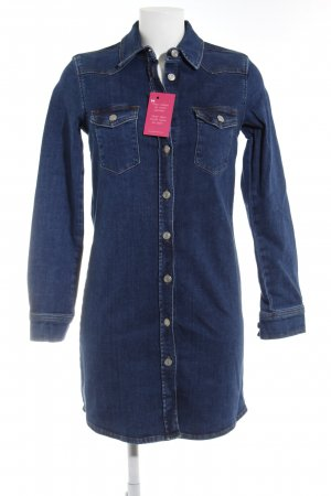 Topshop Long-Bluse blau Jeans-Optik