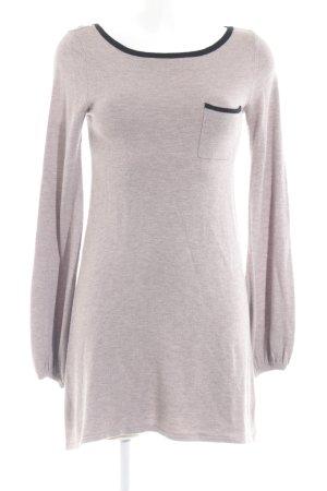 Topshop Longshirt blasslila-schwarz Casual-Look