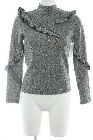 Topshop Long Shirt silver-colored mixture fibre