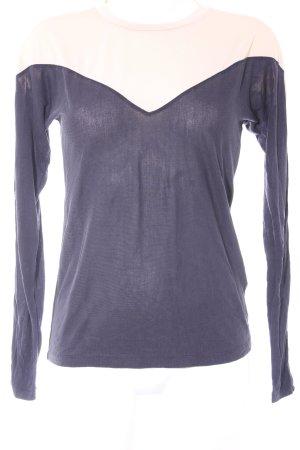 Topshop Longsleeve stahlblau-nude Street-Fashion-Look