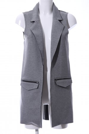 Topshop Long Knitted Vest light grey allover print business style