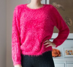 Topshop LOVE Fuzzy Pullover Pink sehr weich! Gr. L wie neu!