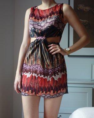Topshop Cut out jurk veelkleurig Polyester