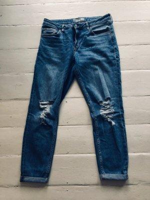 Topshop Lucas Boyfriend Jeans blau 28 32