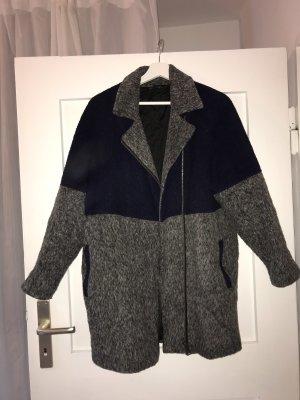 Topshop Cappotto invernale blu scuro-grigio
