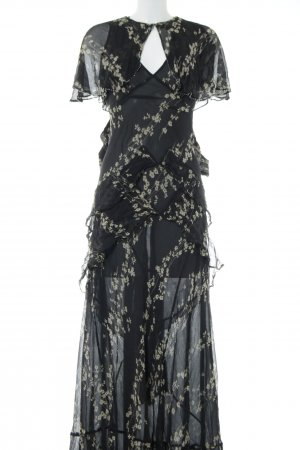 Topshop Maxi Dress black-primrose allover print elegant