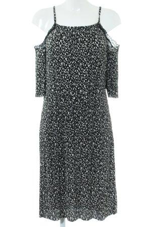 Topshop Midi-jurk zwart-wit volledige print casual uitstraling