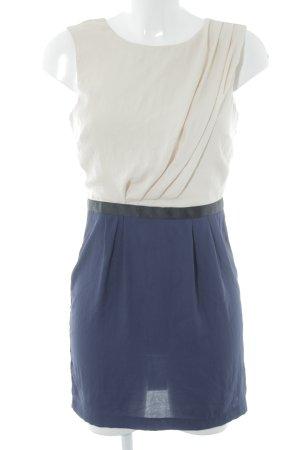 Topshop Midikleid dunkelblau-creme Elegant
