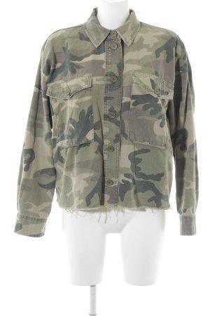 Topshop Militaryjacke grüngrau Camouflagemuster Military-Look