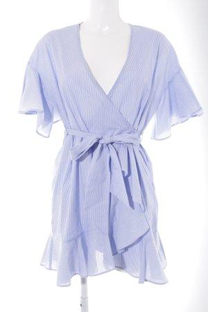 Topshop Mini Dress azure-white striped pattern casual look