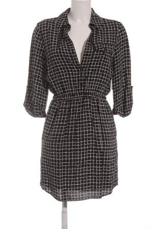 Topshop Minikleid schwarz-weiß grafisches Muster Casual-Look