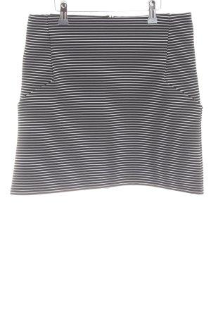 Topshop Minirock schwarz-weiß Streifenmuster Casual-Look