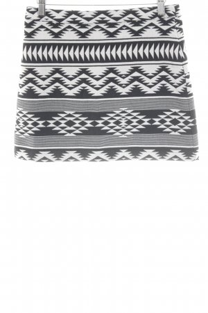 Topshop Minirock schwarz-weiß Aztekenmuster Casual-Look