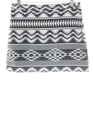 Topshop Minirock schwarz-weiß grafisches Muster Casual-Look