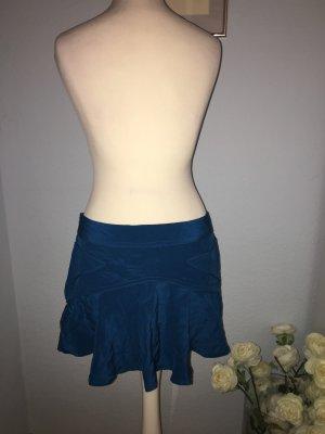 Topshop Silk Skirt petrol silk