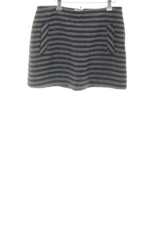 Topshop Minirock schwarz-silberfarben Streifenmuster Casual-Look
