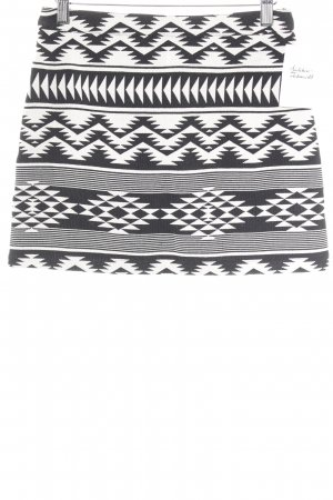 Topshop Minigonna bianco sporco-nero motivo etnico stile da moda di strada