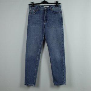 Topshop Jeans boyfriend blu Cotone