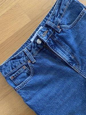 Topshop Jeans taille haute bleu