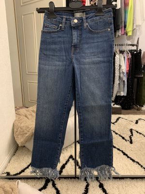Topshop Jeans slim bleu foncé