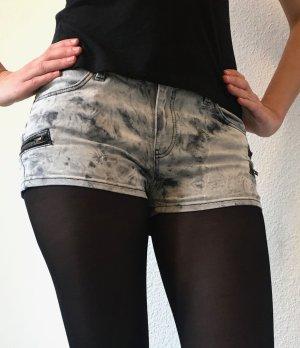Topshop Moto Hotpant Jeansshorts Shorts Jeans Acidwash - 38
