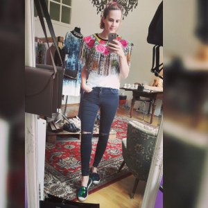 Topshop Moto Leigh Jeans Kneeripped ripped off destroyed Skinny Slim Fit Röhre