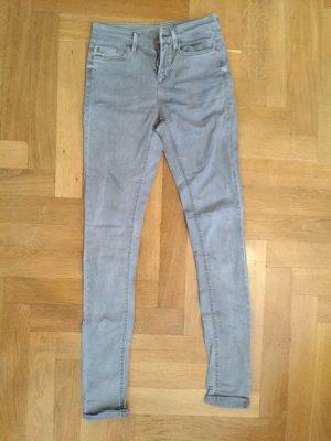 Topshop Moto Leigh Skinny Jeans Hose in grau Gr. 26