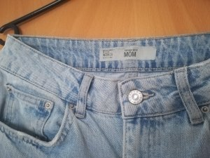 Topshop Hoge taille jeans azuur