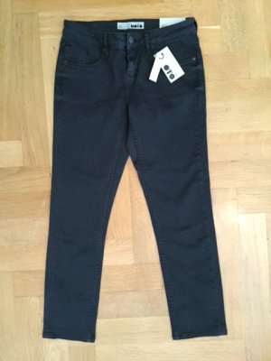 Topshop Moto Skinny Jeans Crop 7/8 Hose in schwarz Gr. 26