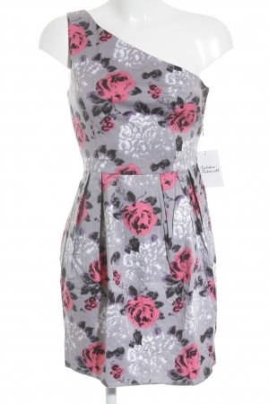 Topshop One-Shoulder-Kleid florales Muster Casual-Look