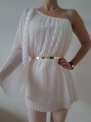 Topshop One Shoulder Mini Kleid XS S 34 36 Tunika Longshirt Bluse Bodycon Top