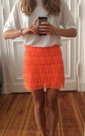 Topshop oranger mini-länge sommer Rock