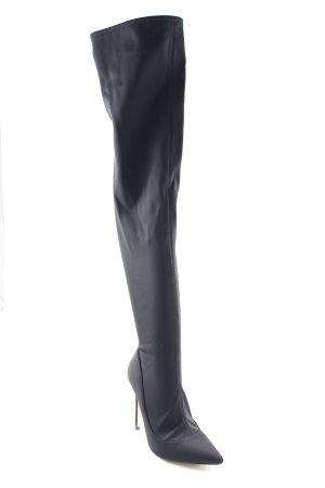 Topshop Overknees schwarz klassischer Stil