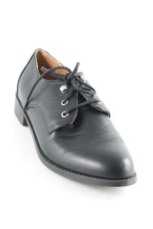 Topshop Chaussure Oxford noir style classique