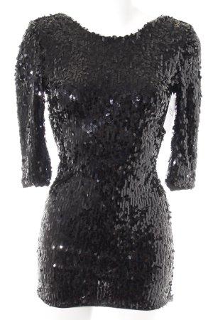 Topshop Pailettenkleid schwarz extravaganter Stil