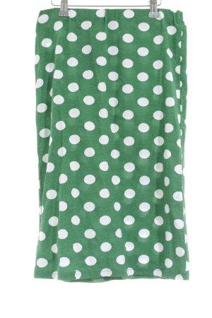 Topshop Petite Bleistiftrock grün-weiß Punktemuster Casual-Look
