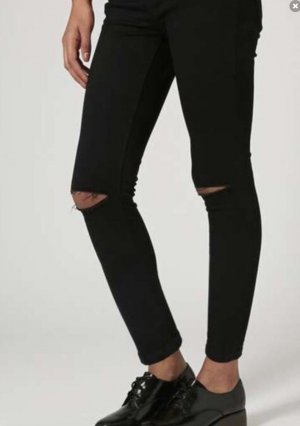Topshop Petite Jamie Ripped Jeans Schwarz 25/28