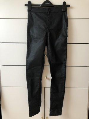 Topshop Petite Hoge taille jeans zwart