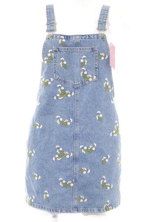 Topshop Petite Jeanskleid Blumenmuster Casual-Look