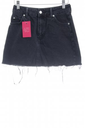 Topshop Petite Denim Skirt black jeans look
