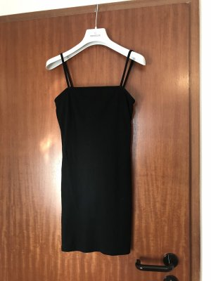 Topshop Petite Vestido de tela de jersey negro
